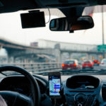 Uber driver using a smartphone while driving - Mesriani Law Group